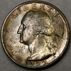 1932 S Washington Silver Quarter High Quality Very Appealing Key Date To Series