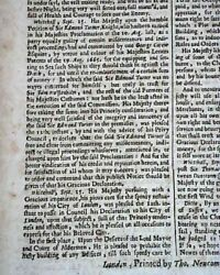 The Great London Fire Charles Ii Of England Forms Building Codes 1666 Newspaper