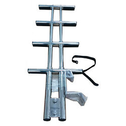 4 Steps Sport Dive Ladder Boat Marine Dual Foldable Stainless Steel