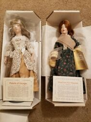 Dolls - Franklin Heirloom Dolls, The Little Maids Of The Thirteen Colonies Set