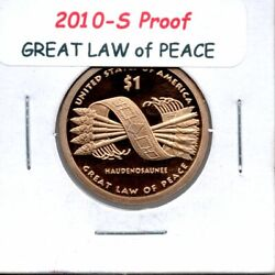 2010-s Sacagawea Native Am Dollar Better Than Gem Proof Problem Free Coin