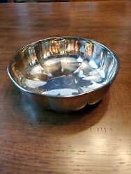 Gorham Yc 3203 Scalloped Silver Plate Bowl 7.75 Wide 2.5 Deep