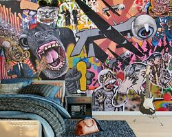 3d Doodle Gorilla A296 Business Wallpaper Wall Mural Self-adhesive Commerce Amy
