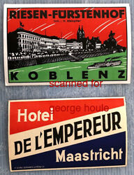 Luggage Labels - Vintage Group Of 6 -germany-bulgaria-italy -netherlands