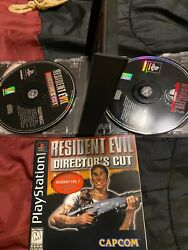 Resident Evil Director's Cut 2 Diskand Book sony Playstation 1, 1997