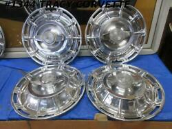 1959-1962 Corvette Hubcaps W/ Nice Spinners Gm 3725237 Driver Quality Set Of 4