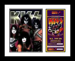 KISS *FRAMED* CONCERT TICKET amp; PHOTO DISPLAY *AUTHENTIC $39.99