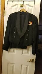 Usaf Us Air Force Officers Dinner Dress Mess Jacket Ml 42/24 And Pants 36/31