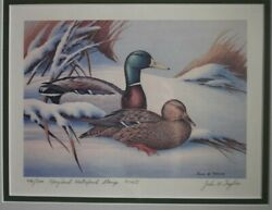 1974/5 1st State Of Maryland Federal Duck Stamp
