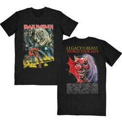 Iron Maiden Number Of The Beast Turgatory Tour 100% Cotton Black T-shirts Tee