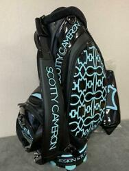 Scotty Cameron Blue & Black Dog Pattern Staff Bag Studio Design Excellent+