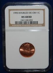 Ngc Ms68rd 1995 Double Die Obverse Lincon Cent