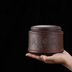 Newly Listed Sealed Caddy For Tea Real Yixing Zisha Tea Canister Handmade Carved