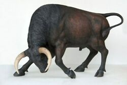 53 Life Size Brown Spanish Fighter Bull Resin Statue Zoo Prop Animal Display