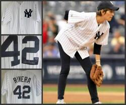 Yankees Mariano Rivera 42 Shirt Lucie Arnaz Signed,see Video Love Lucy,lucille