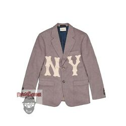 Wool Mlb Tweed Jacket With Ny Yankees™ Patch Size Fr 46