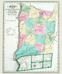 1829 Map Of Dutchess And Putnam County New York