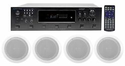 Technical Pro 6000w 6 Zone Home Theater Bluetooth Receiver +8 6.5 Speakers