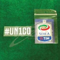 Official Un1co + Italian Calcio Serie A Tim Player Size 2017-18 Sleeve Patch