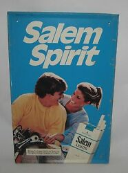 Sandy Dell And Buzzy Kerbox 1983 Salem Lights Cigarettes Tin Advertising Sign
