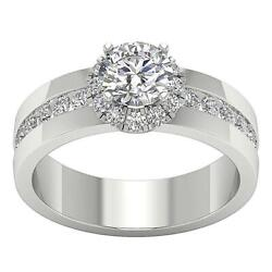 Genuine Diamond Solitaire Halo Engagement Ring 2.05 Ct I1 G Appraisal White Gold
