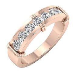 I1 G 1.10ct Round Cut Diamond Menand039s Engagement Ring 14k Gold 6.35 Mm Channel Set