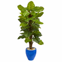 Large Leaf Philodendron Artificial Plant Nearly Natural 5' In Planter Real Touch