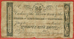 2nd Bank Of The State Of Tennessee At Columbia 1822 25¢ Discovery Note