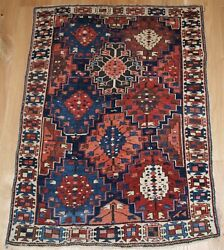 Antique Caucasian Rug Of Small Size And Scarce Design, Kuba Region, Late 19th Ce