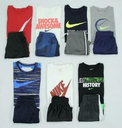Boy 6 & 7 Nike Jumping Beans Carter's Athletic Summer Shirts Shorts Clothes Lot!