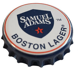 100 White Beer Bottle Caps Sam Adams Used, No Defects