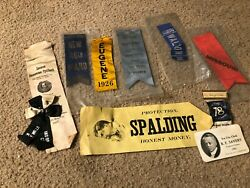 Misc4366 - Lot Of 10 Late 1800s To Early 1900s Political/fraternal/masonic Items