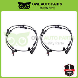 2pc Abs Wheel Speed Sensor Als1918 Front 68003281aa For Jeep Wrangler 3.8l 07-11