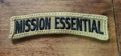 Mission Essential Emergency Responder Tab Patch Hook Back Military Style OCP BDU