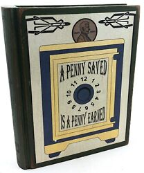 """Wooden Rainy Day Fund Bank For Adults Penny Saved Is A Penny Earned 5.5"""""""