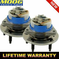 Moog 2 Front Wheel Bearing And Hub For Chevy Buick Cadillac Pontiac 5-lugs W/ Abs