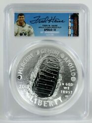 2019 5oz Silver 1st Day Launch Ceremony Signed By Apollo 13 Fred Haise Pcgs