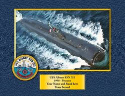Uss Albany Ssn 753 Custom Personalized Print Of Us Navy Ships Unique Gift Idea