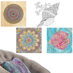 2pk Color Your Own Wall Decals Art Coloring Activity Stress Relief Adults Kids