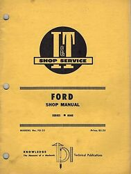 Ford 8000 Tractor I+t Shop Manual Fo-25
