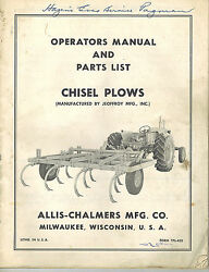 Allis Chalmers 7and039 10and039 13and039 Chisel Plows Operatorand039s Parts Manual