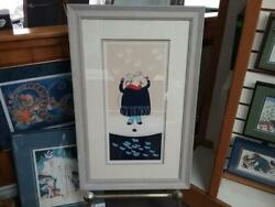 Rie Munoz New Custom Framed And Matted 1982 Serigraph Spring Ice Fishing Rare