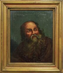 Painting To Oil On Canvas/socrates/portrait A Half Bust/dating Xviii Century