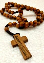 Hand Made Olive Wood Rosary Beads And Free Card Booklet How To Pray The Rosary