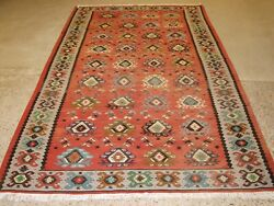 Old Sharkoy Kilim With Traditional All Over Design In Soft Colours Circa 1920.