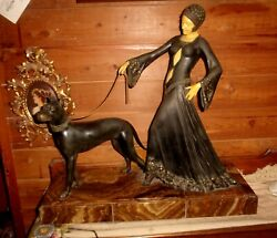 Magnificent Georges Gori Patinated Bronze And Ivorine The Guardian Group
