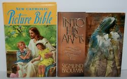 2 Book Lot The New Catholic Picture Bible And Into His Arms Free Shipping