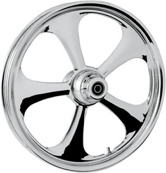 Rc Components Nitro Chrome Abs 23 Single Disc Front Wheel 08-17 Harley Touring