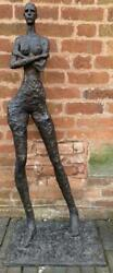 Large Contemporary Bronze Sculpture - Naked Woman - Oversized - 121cm High