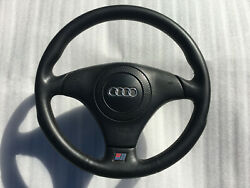 Audi Oem Nardi S-line Sport Leather Steering Wheel + Airbag A4,s4,a6,s6,a8,s8